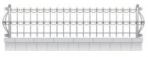 Кованая ограда, артикул Ог-22