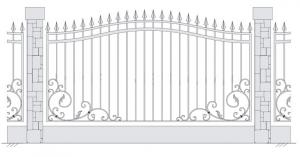Кованый забор, артикул З-022