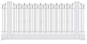 Кованый забор, артикул З-023
