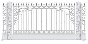 Кованый забор, артикул З-024