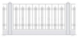 Кованый забор, артикул З-029