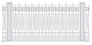Кованый забор, артикул З-030