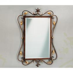 Зеркало в кованой прямоугольной рамке