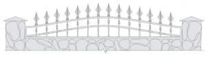 Кованый забор, артикул З-037