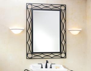 Кованое прямоугольное зеркало