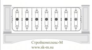 Кованое балконное ограждение, артикул Б-019