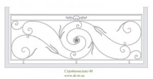 Кованое балконное ограждение, артикул Б-010