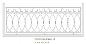 Кованое  балконное ограждение, артикул Б-015