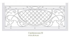 Кованое балконное ограждение, артикул Б-016