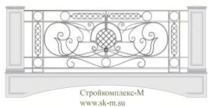 Кованое балконное ограждение, артикул Б-020
