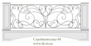 Кованое балконное ограждение, артикул Б-021