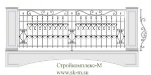 Кованое балконное ограждение, артикул Б-023