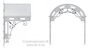 Козырек кованый К-001