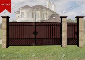 Кованые ворота В-097