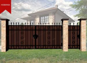 Кованые ворота В-098