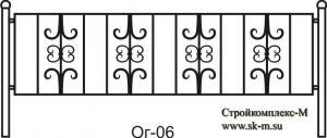 Кованая ограда, артикул ог-06