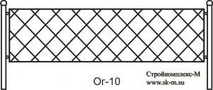 Кованая ограда, артикул ог-10