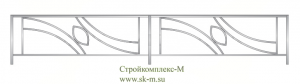 Кованая ограда, артикул Ог-13
