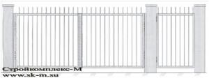 Кованые ворота В-001