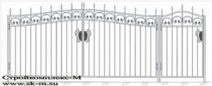 Кованые ворота, артикул В-002