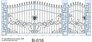 Кованые ворота, артикул В-016