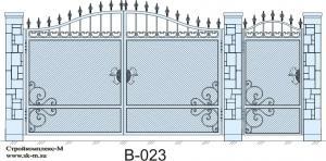 Кованые ворота, артикул В-023