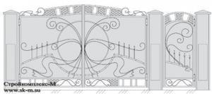 Кованые ворота, артикул В-032