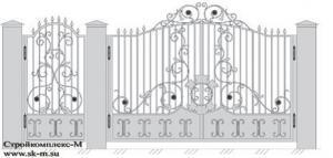 Кованые ворота, артикул В-043
