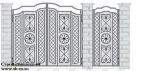Кованые ворота, артикул В-067