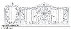 Кованые ворота, артикул В-073