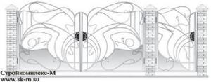 Кованые ворота, артикул В-078