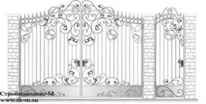 Кованые ворота, артикул В-082