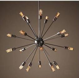 Кованая люстра на много лампочек
