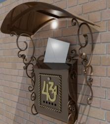 Кованый почтовый ящик с навесом