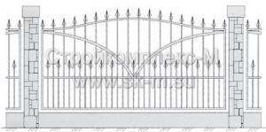 Кованый забор, артикул З-019