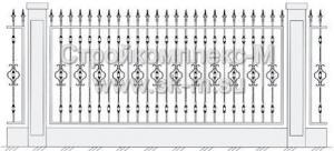 Кованый забор, артикул З-034
