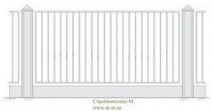 Кованый забор, артикул З-001