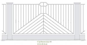 Кованый забор, артикул З-012