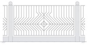 Кованый забор, артикул З-013