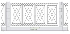 Кованый забор, артикул З-015