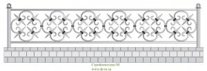 Кованая ограда, артикул Ог-16