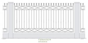 Кованый забор, артикул З-017