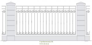 Кованый забор, артикул З-021