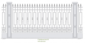 Кованый забор, артикул З-032