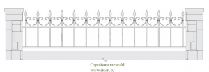 Кованый забор, артикул З-035