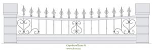 Кованый забор, артикул З-036