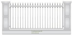 Кованый забор, артикул З-004