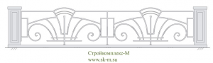 Кованый забор, артикул З-040