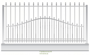 Кованый забор, артикул З-049