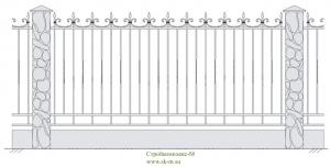 Кованый забор, артикул З-006
